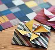会津木綿柄 折り紙