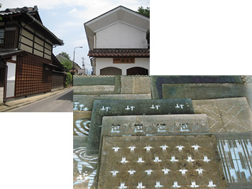 喜多方市の街並みと会津型