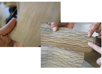 からむし織の織物